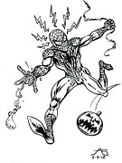 John Ashton Golden - Spidey Dodges a Pumpkin...