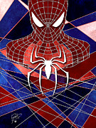 Skylines Digital Art Prints - Spidey Print by Jason Longstreet