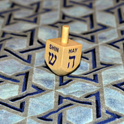 Hanuka Prints - Spin little Dreidel Print by Roger Reeves  and Terrie Heslop