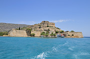 Turquois Prints - Spinalonga island Crete Greece Print by Matthias Hauser