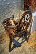 Fibres Prints - Spinning Wheel Print by Ian Mitchell