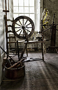 Wicker Chair Prints - Spinning Wheel Print by Peter Chilelli