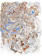 Valluzzi Drawings Prints - Spinodal Decomposition Print by Regina Valluzzi