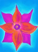 Spiral Flower Print by Daina White