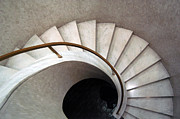 Modernism Photo Framed Prints - Spiral Stair - Denys Lasdun Framed Print by Peter Cassidy