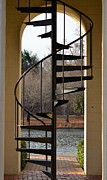 Staircase Photos - Spiral Staircase by Corinne Rhode