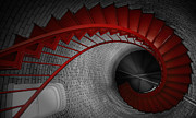 Spiral Staircase Metal Prints - Spiral Staircase Metal Print by Dapixara Art