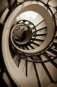 B Photos - Spiral Staircase by Sebastian Musial