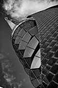 Architectural Abstract Posters - Spiral up - black and white Poster by Hideaki Sakurai