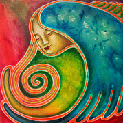 Spiraling Inward Print by Annette Wagner