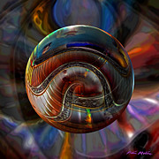 Spiral Digital Art Prints - Spiraling the Vatican Staircase Print by Robin Moline