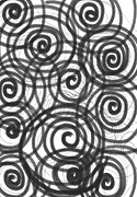 Spirals Of Love Print by Daina White