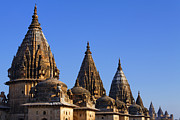 Orchha Framed Prints - Spires at Orchha Framed Print by Robert Preston