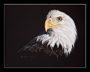 Print On Canvas Pastels Posters - Spirit Bald Eagle Poster by Mary Dove