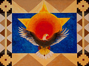 American Eagle Paintings - Spirit Flight by Jeanette Sacco-Belli