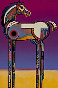 Fauvist Style Paintings - Spirit Horse by Bob Coonts