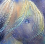 Watercolor  Originals - Spirit Horse by Robert Hooper