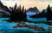 Crater Lake Paintings - Spirit Island by Michael Rucker
