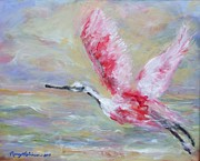 Spoonbill Drawings - Spirit by Nancy Robinson