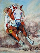 Comanche Paintings - Spirit of a War Pony  by Amanda  Stewart