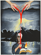 Praying Hands Prints - Spirit of a Warrior Print by Troy Guillory