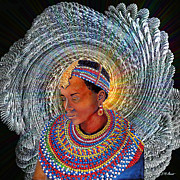 Female Mixed Media - Spirit of Africa by Michael Durst