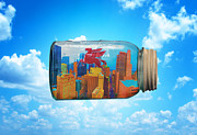 Dallas Skyline Digital Art Prints - Spirit of Dallas Print by David Clanton