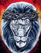 Religious Artist Painting Metal Prints - Spirit of Judah Metal Print by Lucky Chen
