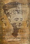Pharaoh Posters - Spirit of Nefertiti Egyptian Queen   Poster by Georgeta Blanaru
