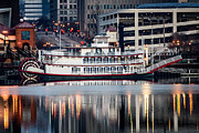 Riverboat Prints - Spirit of Peoria Riverboat Print by Paul Velgos