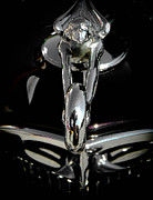 Sterling Silver Art - Spirit of Speed BW by Christy Usilton