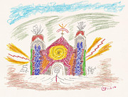 Religious Art Drawings - Spirit of St Francis by Mark David Gerson