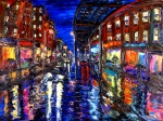 Pallet Knife Prints - Spirit Of The City Print by Arthur Robins