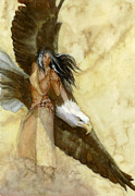 American Eagle Paintings - Spirit of the Eagle by Susan Miller