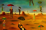 Leah Saulnier The Painting Maniac - Spirit Of The Flying Umbrellas edit 2