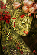 Rosy Hall Metal Prints - Spirit of the Forest Metal Print by Rosy Hall