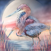 Great Heron Prints - Spirit Of The Heron Print by Carol Cavalaris