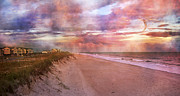 Topsail Island Posters - Spirit of the Sunset Poster by Betsy A Cutler East Coast Barrier Islands