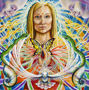 Spiritual Portrait Of Woman Painting Posters - Spirit Portrait Poster by Morgan  Mandala Manley