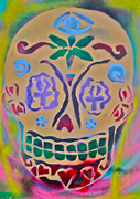 Dead People Paintings - Spirit Skull by Tony B Conscious