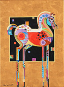 Surrealistic Painting Prints - Spirit Stallion II Print by Bob Coonts