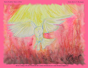 Life-like Pastels Posters - Spirit Touched Heart of Man Poster by Kevin Montague