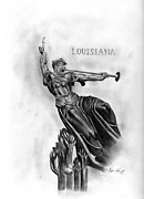 Confederacy Drawings Prints - Spirit Triumphant Print by Lou Knapp