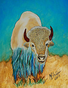 Native American Pyrography - Spirit White Buffalo by Mike Holder