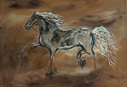Mustang Paintings - Spirited by Leslie Allen