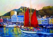 Victoria Paintings - Spirits Sunset Sail by Michael Durst