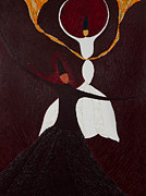 Rumi Paintings - Spiritual Combat -Mujhahida by Haris Sheikh
