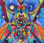 Sacred Art Paintings - Spiritual Guide by Teal Eye  Print Store