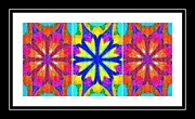 Repeat Patterns Digital Art Posters - Spirituality - Life Lights - Kaleidoscope - Triptych Poster by Barbara Griffin