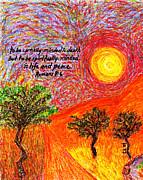 Spiritually Minded Print by Catherine Saldana